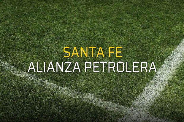 Santa Fe - Alianza Petrolera rakamlar