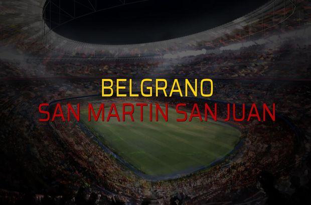 Belgrano - San Martin San Juan rakamlar