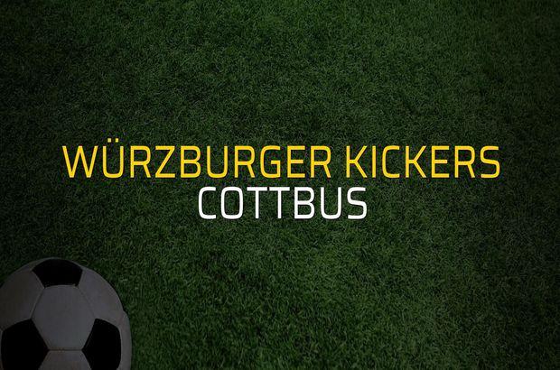Würzburger Kickers - Cottbus karşılaşma önü
