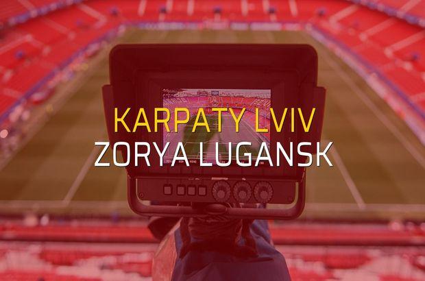 Karpaty Lviv - Zorya Lugansk maçı öncesi rakamlar
