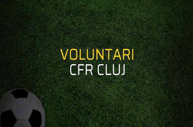 Voluntari - CFR Cluj maçı rakamları
