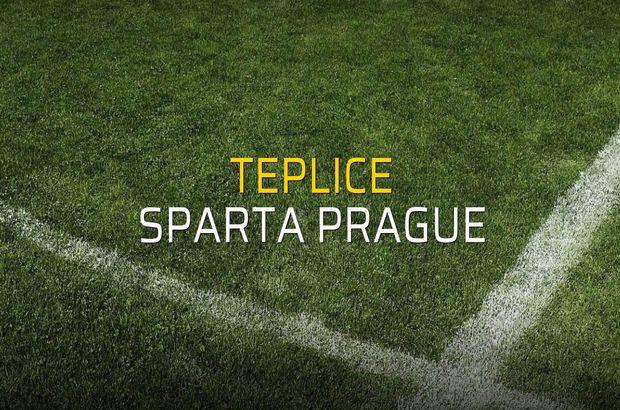 Teplice - Sparta Prague karşılaşma önü