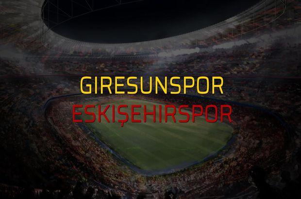 Giresunspor - Eskişehirspor rakamlar