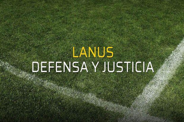 Lanus - Defensa y Justicia rakamlar