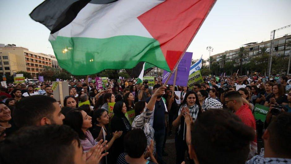 """İsrail vatandaşı Filistinlilerden """"Yahudi ulus devlet"""" yasasına tepki!"""