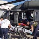 Doğum sancısı çeken kadın askeri helikopterle hastaneye yetiştirildi
