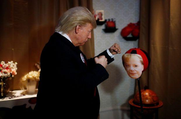 Trump'tan Merkel'e yumruk!