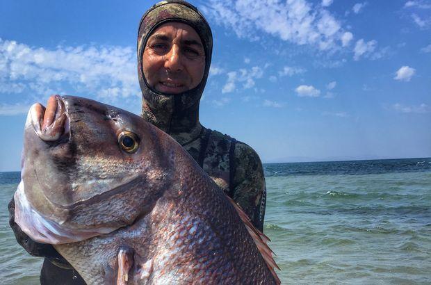 46 yaşındaki balığı zıpkınla yakaladı!
