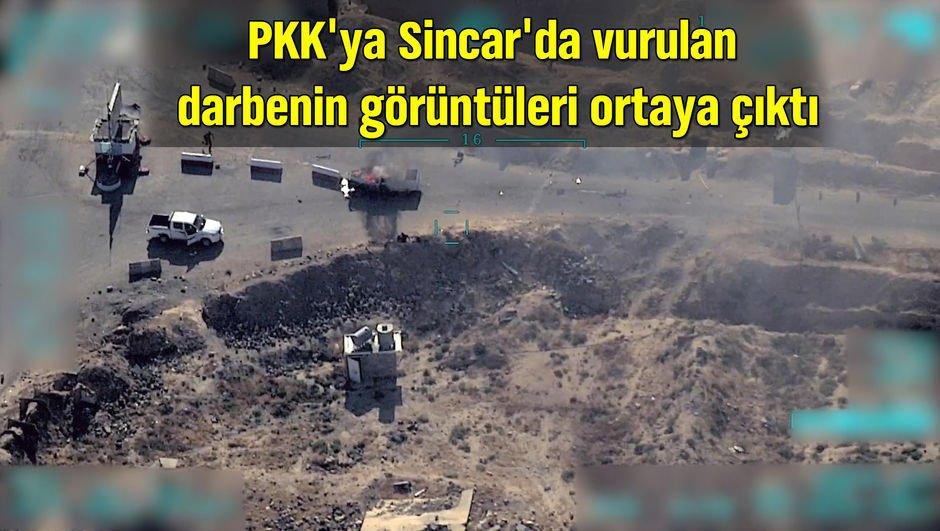 PKKya Sincarda vurulan darbenin görüntüleri ortaya çıktı