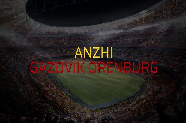 Anzhi - Gazovik Orenburg maçı istatistikleri