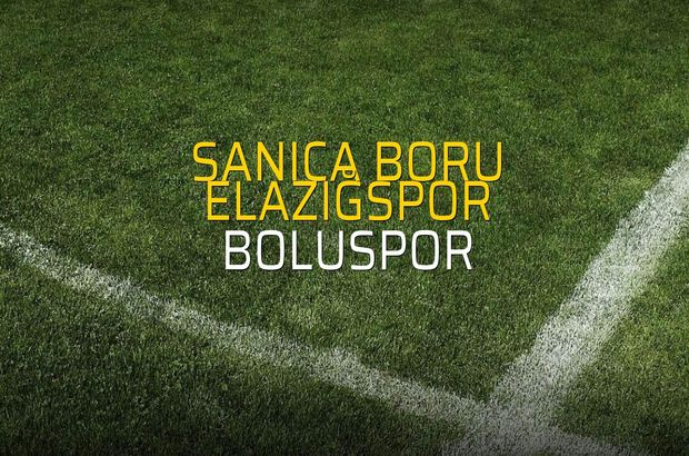 Sanica Boru Elazığspor - Boluspor maçı istatistikleri
