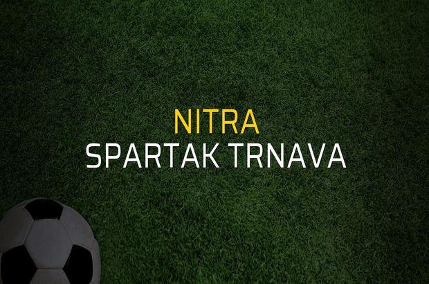 Nitra - Spartak Trnava rakamlar