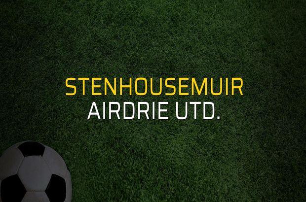 Stenhousemuir - Airdrie Utd. maçı heyecanı