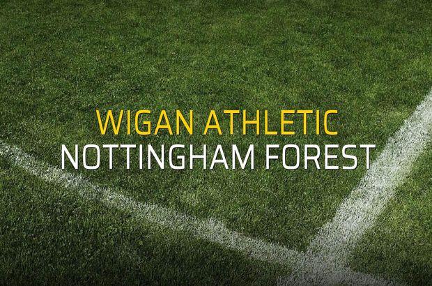 Wigan Athletic - Nottingham Forest maçı öncesi rakamlar