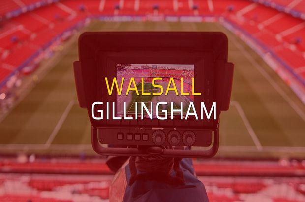 Walsall - Gillingham maçı öncesi rakamlar