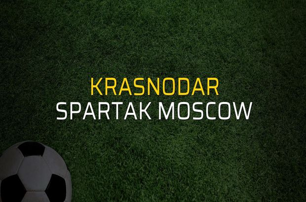 Krasnodar - Spartak Moscow rakamlar