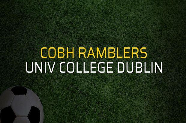 Cobh Ramblers - Univ College Dublin sahaya çıkıyor