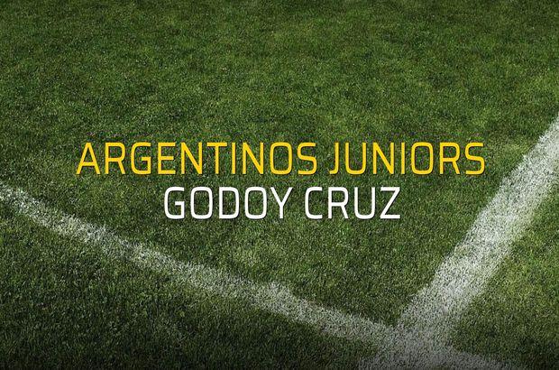 Argentinos Juniors - Godoy Cruz karşılaşma önü