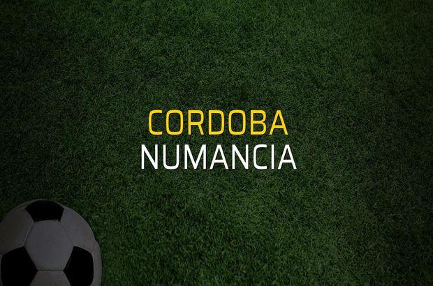 Cordoba - Numancia karşılaşma önü