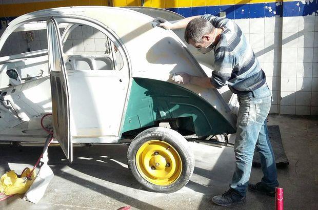 Erzincan'da bir oto tamircisi...