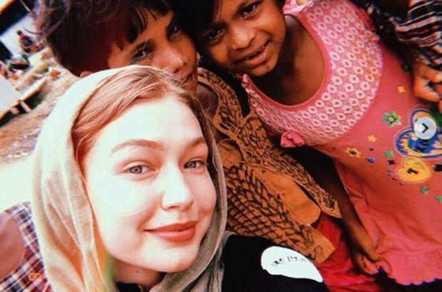 Gigi Hadid mülteci kampını ziyaret etti