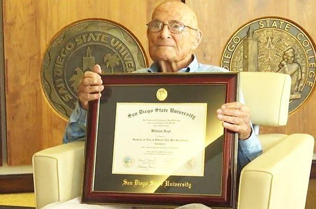 Diplomasını 105 yaşında aldı