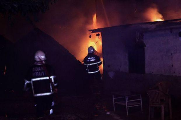 Adana marangozhane yangın