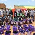 Burkina Fasolu yetimlerle fidan diktiler