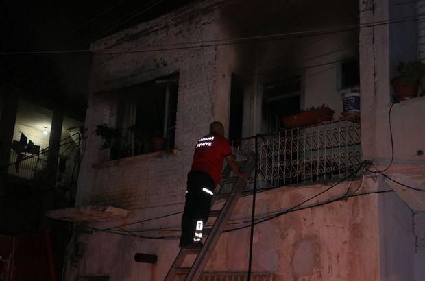 Adana müstakil ev yangını
