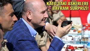 Erdoğan Soylu'yu aradı, askerlerle bayramlaştı