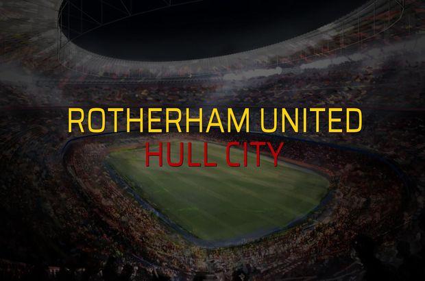 Rotherham United - Hull City maçı rakamları
