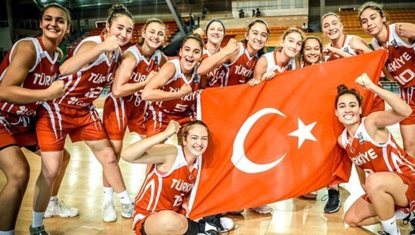 U16 Kız Basketbol Milli Takımı, Avrupa Şampiyonasında yarı finalde