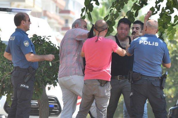 Polis yere yatırıp kelepçeledi