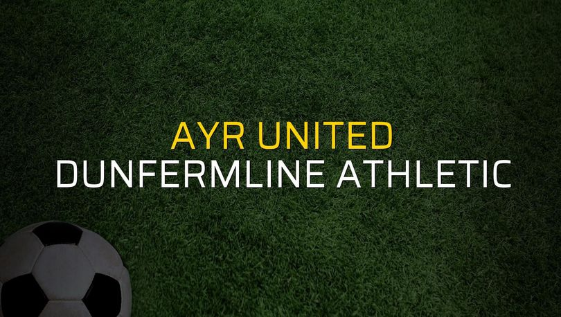 Ayr United - Dunfermline Athletic maçı rakamları