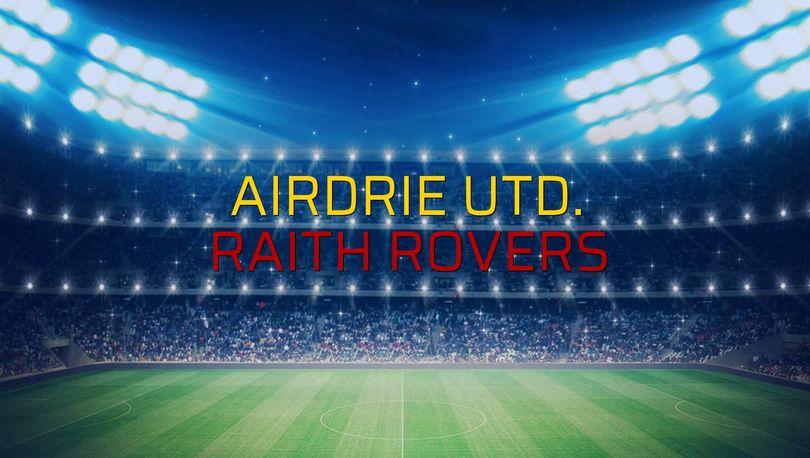 Airdrie Utd. - Raith Rovers maçı ne zaman?