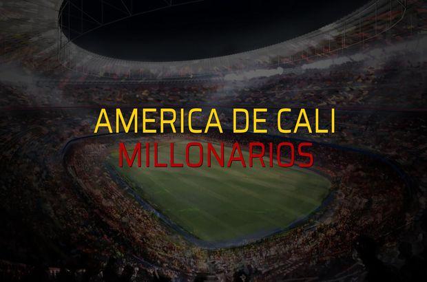 America de Cali - Millonarios maçı rakamları