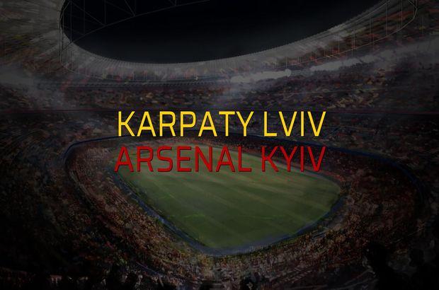 Karpaty Lviv - Arsenal Kyiv sahaya çıkıyor