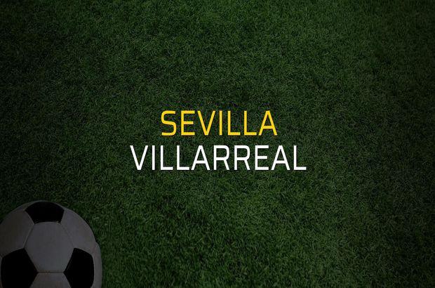Sevilla - Villarreal maçı rakamları