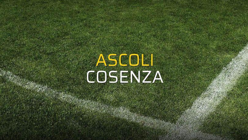 Ascoli - Cosenza maç önü