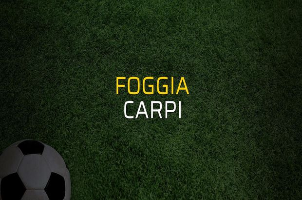 Foggia - Carpi maçı rakamları