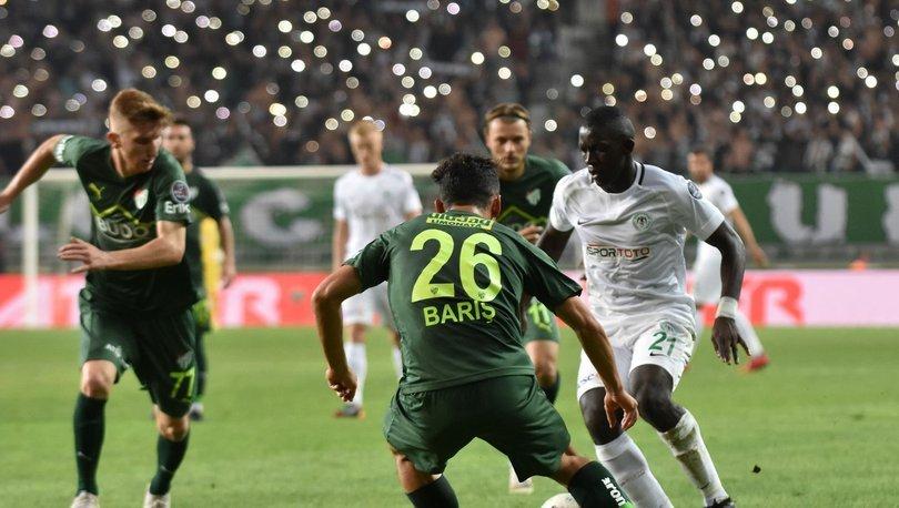Atiker Konyaspor: 1 - Bursaspor: 1   MAÇ SONUCU