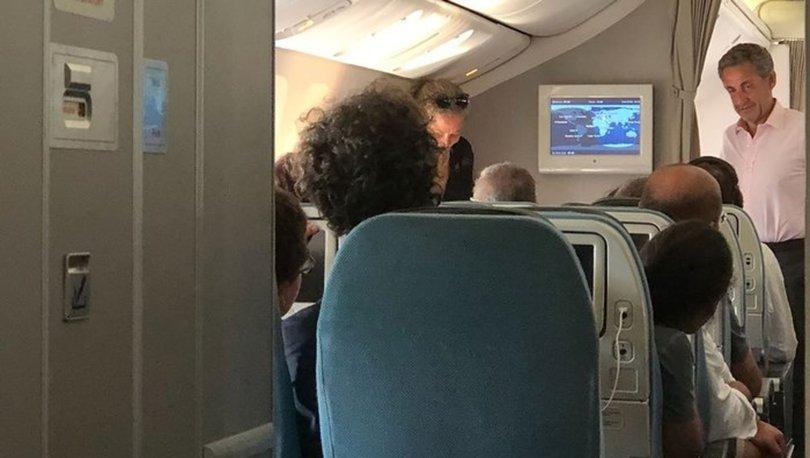 Sarkozy ve eşi Carla Bruni Bodrum'dan İstanbul'a ekonomi sınıfında uçtu