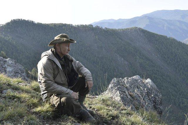 Putin, Sibirya dağlarına çıktı!