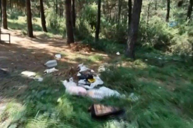 Piknikçilerden geriye kalanlar utandırdı