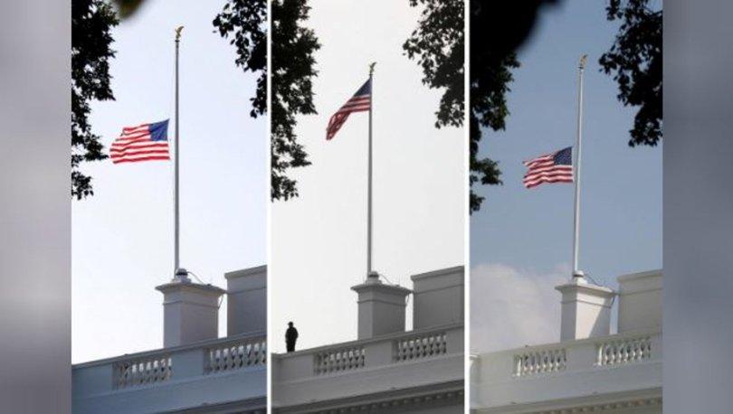 McCain'in ölümünün ardından Beyaz Saray'da bayrak krizi!