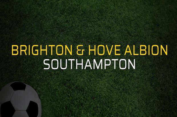 Brighton & Hove Albion - Southampton maçı heyecanı