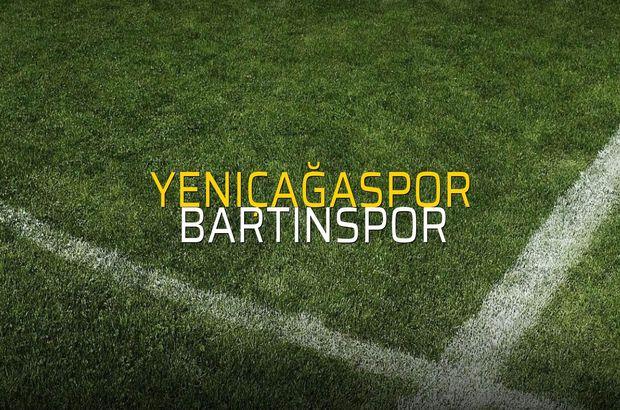 Yeniçağaspor - Bartınspor maçı rakamları
