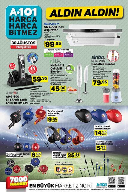 A101 indirimli ürünler - 30 Ağustos Perşembe: Katalogda televizyon ve telefon sürprizi var