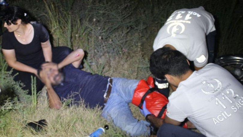 Adana'da motosiklet devrildi 2 kişi yaralandı