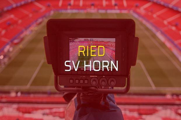 Ried - SV Horn maçı heyecanı
